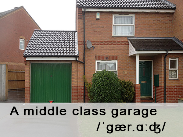 A typical middle class garage.