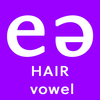 British English accent training free download: the keyword for /eə/ is 'HAIR'.
