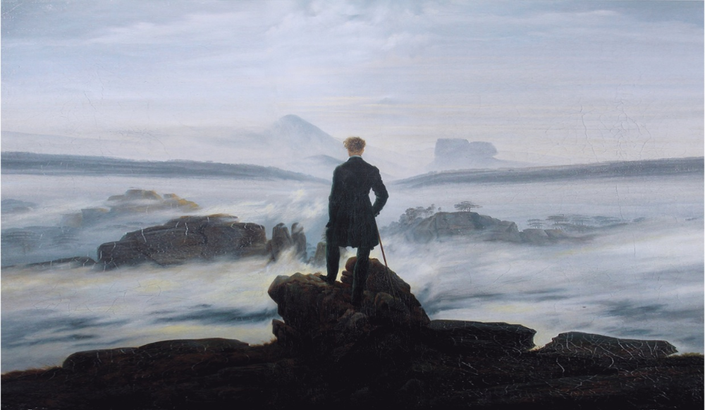 'Wanderer above the sea of fog' by Caspar David Friedrich.